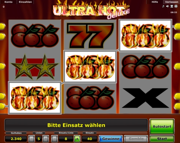 onlin casino ultra hot deluxe